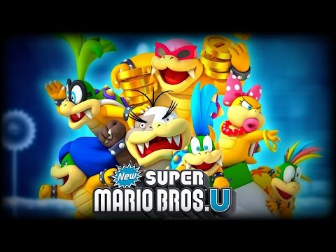 New Super Mario Bros U - All Koopaling, Bowser Jr, & Bowser Boss Fights