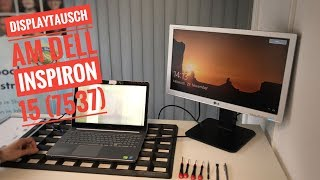 Dispalytausch am Dell Inspiron 15 (7537) - Notebook mit Touch Display Einheit