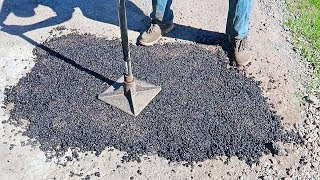 How to Fix a Pothole in Asphalt Driveway?