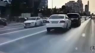 Смотреть видео Авария в Москве на новом Арбате Видеорегистратор | 7.07.19. онлайн