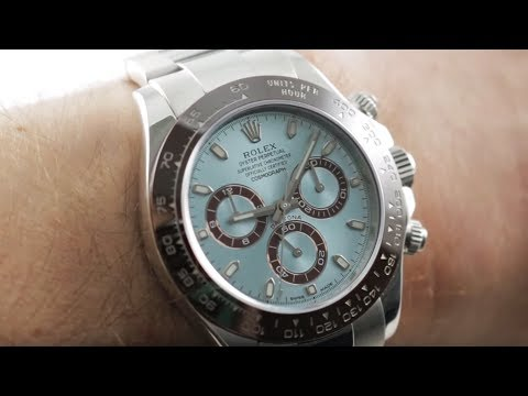 Platinum Rolex Daytona 50th Anniversary 116506 Luxury Rolex Watch Review