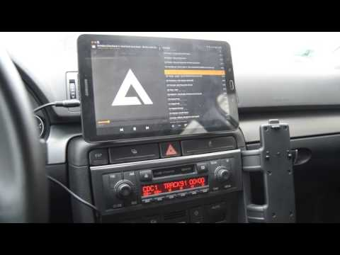 Audi A4 B6 Tablet Galaxy Tab E w samochodzie/TABLET IN CAR