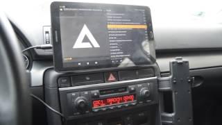 audi a4 b6 tablet galaxy tab e w samochodzie tablet in car