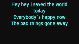 eurythmics i saved the world today lyrics