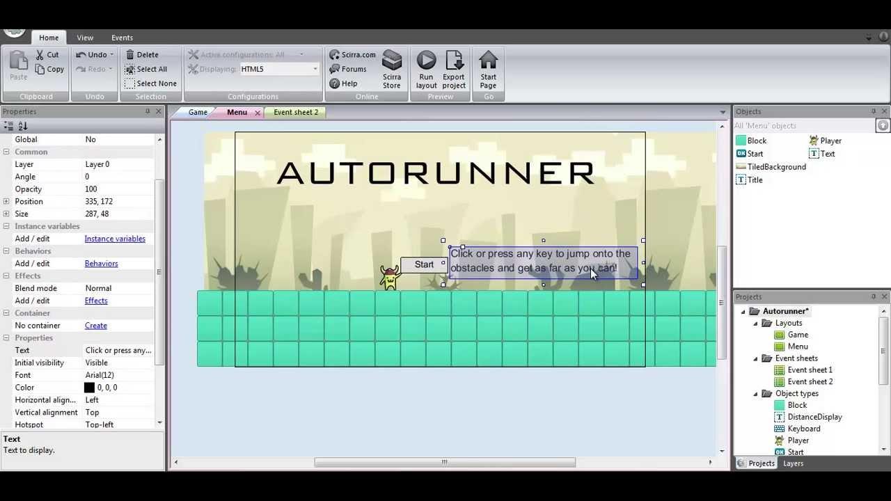 Construct 2 menutitle screen tutorial youtube baditri Gallery