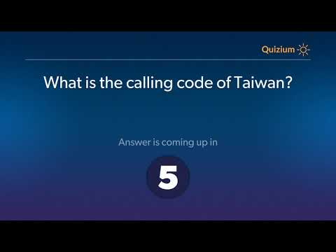What is the calling code of Taiwan?   Taiwan Quiz