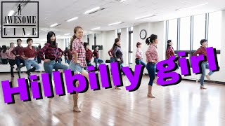 Hillbilly Girl Line Dance Demo & Count - Andy Mcgrath 어썸라인