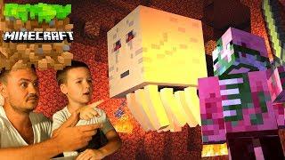 МАЙНКРАФТ НУБик Виживання Кока з Батьками в ПЕКЛІ Minecraft PE KokaPlay Відео для Дітей