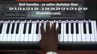 Ab Tere Bin Jee Lenge Hum - Piano Tutorials - Aashiqui (old)