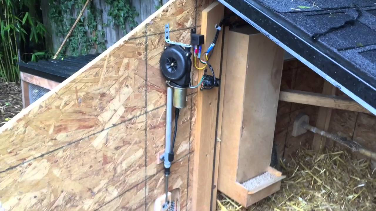 simple automatic chicken coop door [ 1280 x 720 Pixel ]
