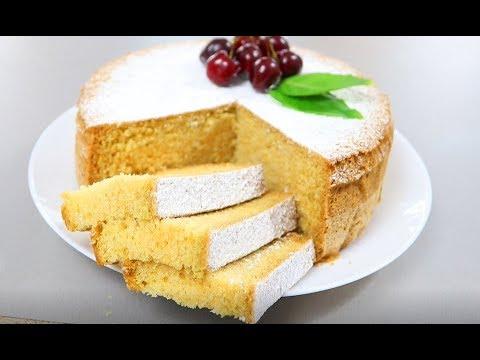 Вкусный и Пышный Бисквит на Майонезе, простой рецепт