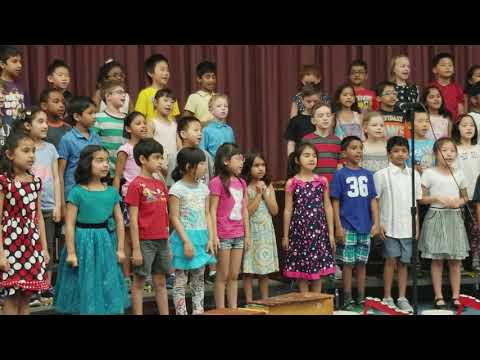 Maegan singing concert at orchard hill school
