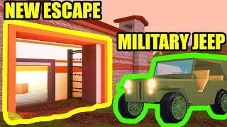[FULL GUIDE] NEW ESCAPE and MILITARY JEEP UPDATE | Roblox Jailbreak Update