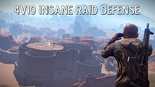 Rust | 4v10 INSANE BASE DEFENSE