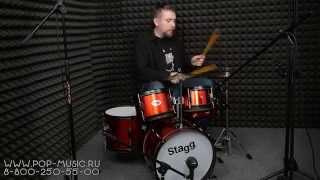 Детская барабанная установка STAGG TIM JR 5/16. Играем на барабанах, устраиваем рок-концерт