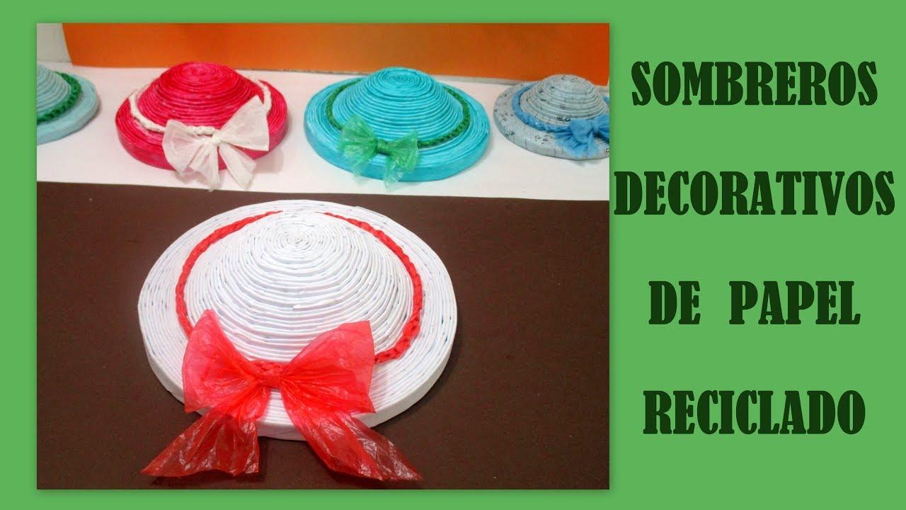 Hacer sombreros decorativos de papel reciclado y bolsas for Como construir piletas de material