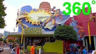 Comic Book Shop 360˚ 4k - Islands of Adventure, Universal Studios