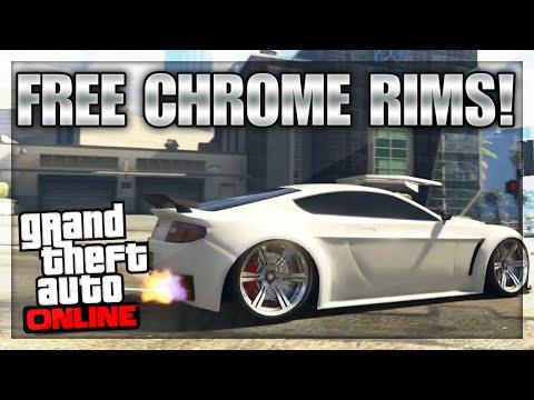 "GTA 5 Online - Unlock FREE Chrome Rims (Sport) ""GTA 5 Online Tips, Tricks, & Glitches"""