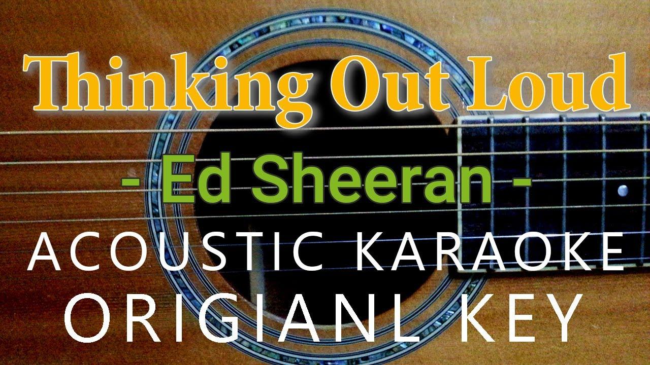 Thinking Out Loud Karaoke Acoustic Ed Sheeran, Female Key