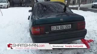 Երևանում բախվել են Mercedes ն ու Opel ը  վերջինն էլ բախվել է մայթին գտնվող ծառերին
