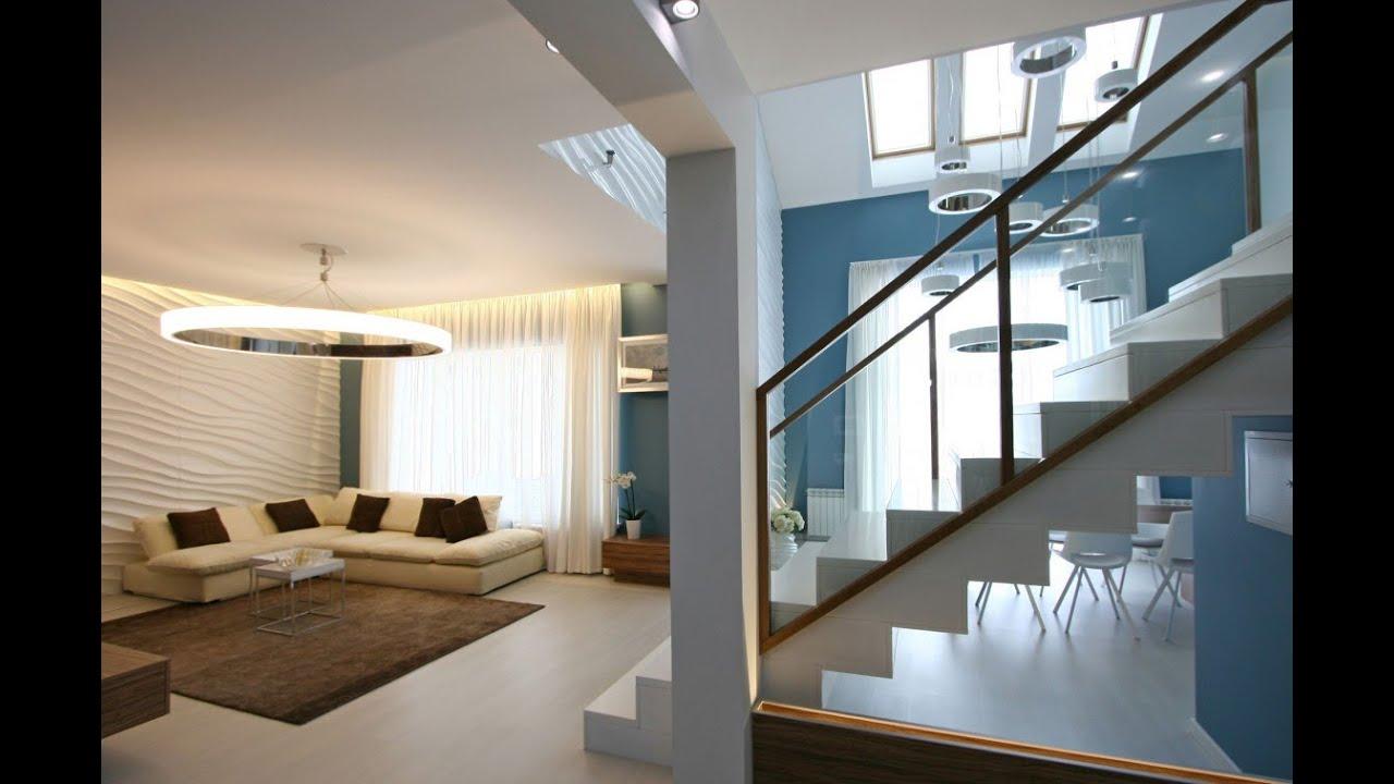 Dise o de casa moderna de dos plantas m s planos youtube for Disenos de salas modernas