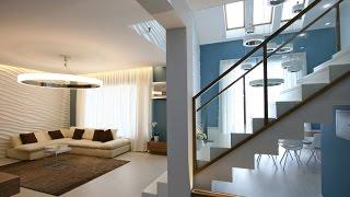 Diseño de casa moderna de dos plantas más planos