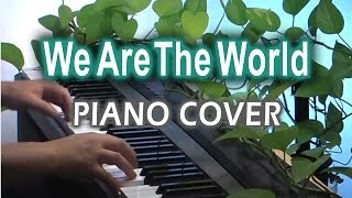 1985 USA for Africa 2008 Michael Jackson We are the world Piano per...