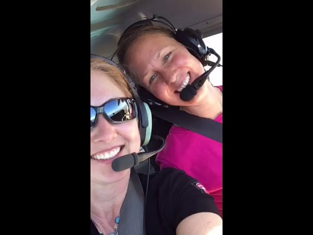 Two Moxie Girls flying from Honolulu to Kona in Cessna 172