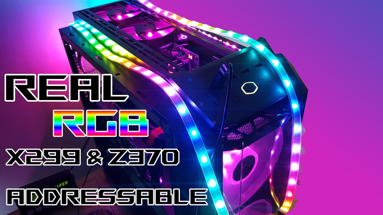 Connecting a Real Cheap RGB Addressable WS2812B LED strips on a Z370  Maximus X Hero