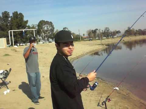 Randy 39 s big catch fishing at santa ana river lake youtube for Santa ana river lakes fishing