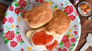 "Real figure Series! This time, I made a Rilakkuma ""freshly baked sc..."