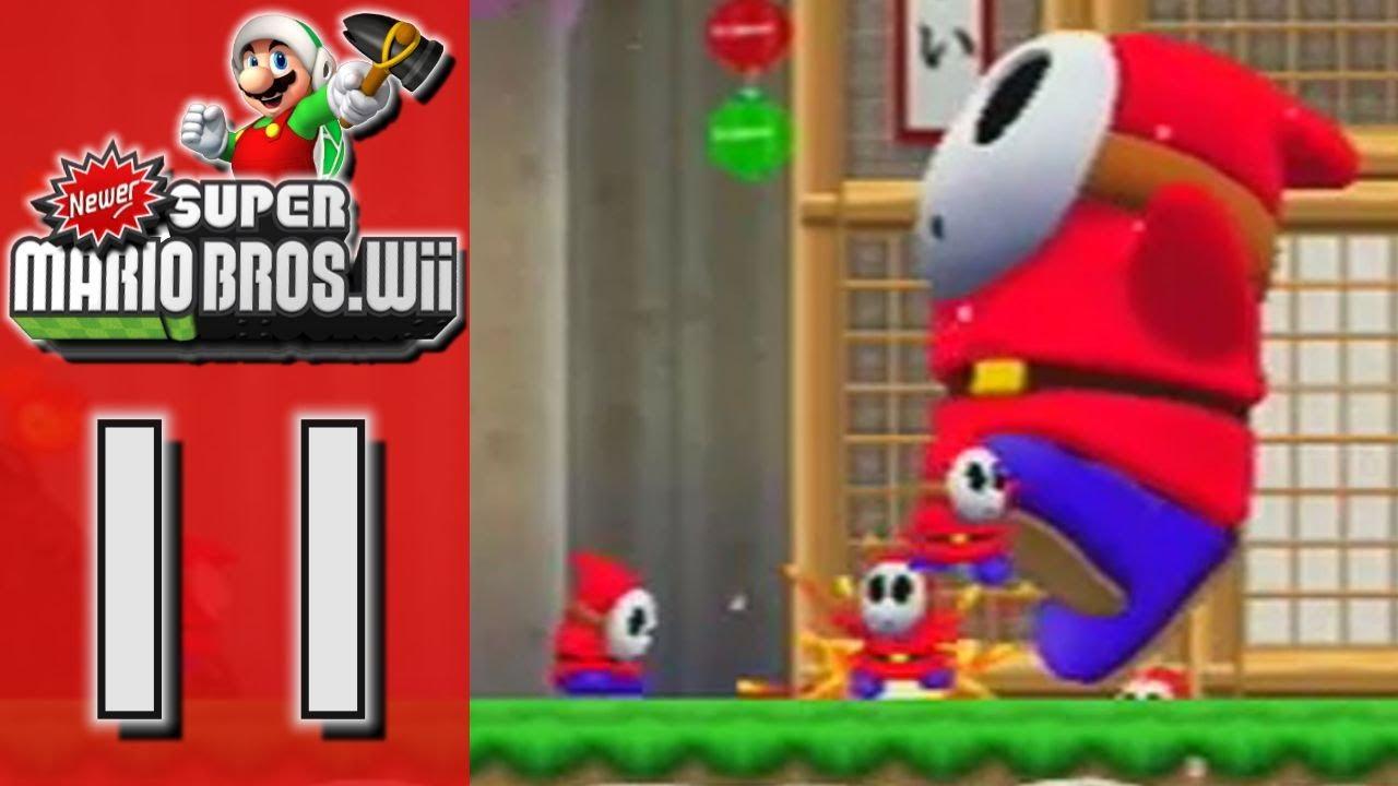 Newer Super Mario Bros Wii World 4 Sakura Village Part 11