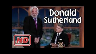 Donald Sutherland with Craig Ferguson!  Show