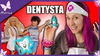Ken u DENTYSTY!!!  Bolący ząb i Barbie Dentystka  Bajka po polsku z lalkami Opening  Marivo