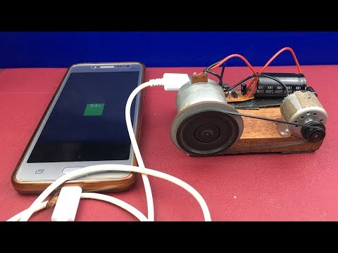 DIY Free Energy Generator Experiments - How to Make Mobile Phone Charger At Home Using DC Motor