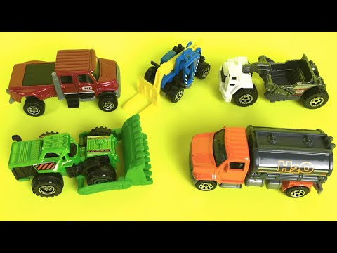 Matchbox Mighty Machines mission construction toys & Surprise Blind bags  5 pack bulldozer truck