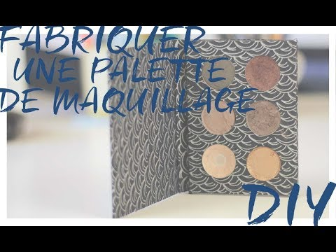 fabriquer une palette de maquillage diy youtube. Black Bedroom Furniture Sets. Home Design Ideas