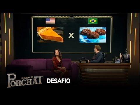 "Porchat desafia Nívea Stelmann a escolher a ""vida perfeita"""
