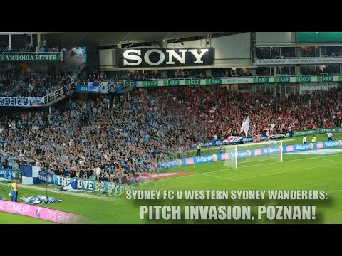A LEAGUE DRAMA: Sydney FC V Western Sydney Wanderers 3-2: Brosque Goal- The Cove Pitch Invasion