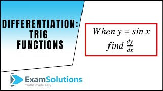Download Video Differentiation - Trig. functions sin(x), cos(x) and tan(x) : ExamSolutions Maths Revision MP3 3GP MP4