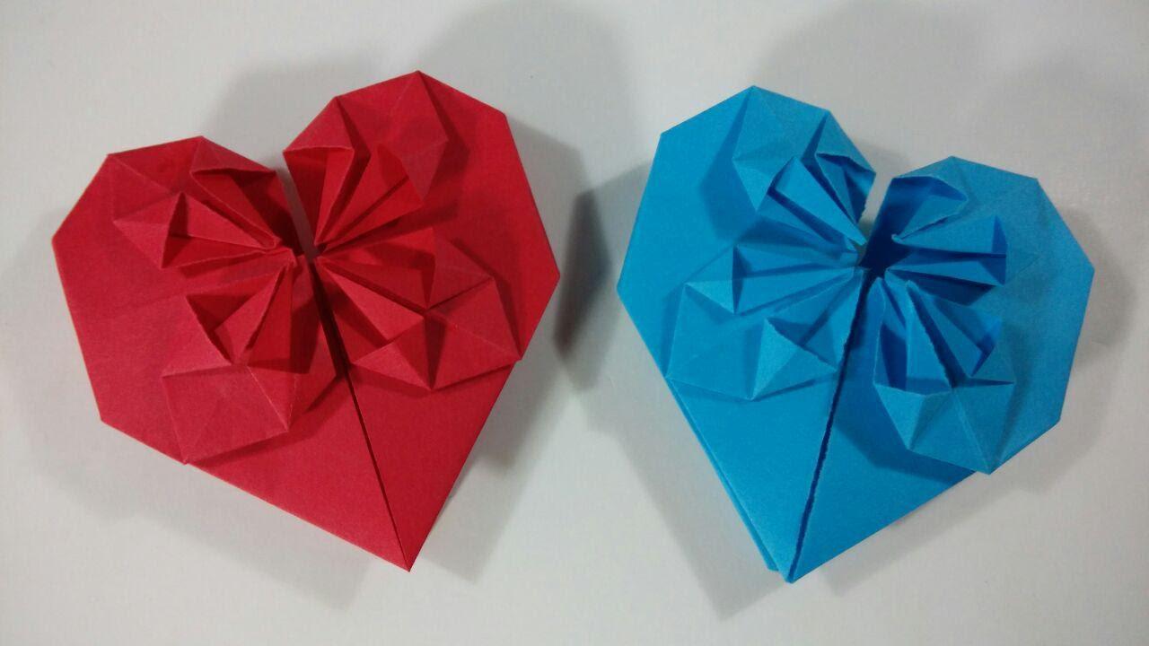 Como hacer un corazon de papel con petalos origami youtube - Como hacer un corazon con fotos ...