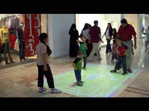 Electronic football Villagio Doha Qatar (Basmla, Balsem, Mustafa and Mahmoud)
