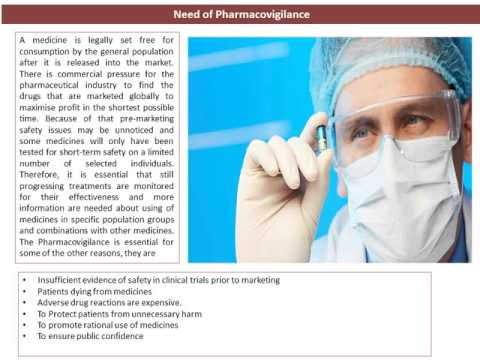 Clinical Research, Course In Pharmacovigilance