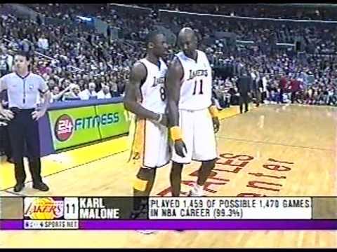 Karl Malone knee injury, 2004