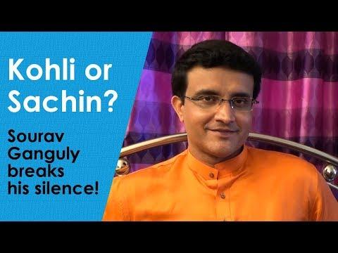Virat Kohli or Sachin Tendulkar? - Sourav Ganguly breaks his silence!