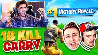 I Carried Miniminter and Wiz with 18 Kills! - Fortnite Battle Royale