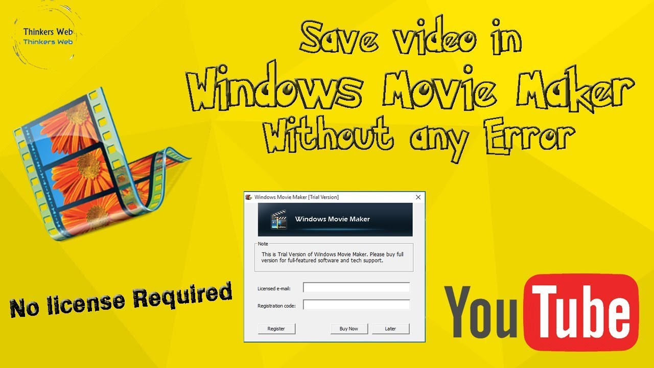 trial version of windows movie maker registration code