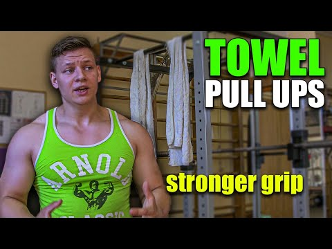 ARM WRESTLING BACK AND GRIP TRAINING (Towel pull ups for stronger grip -exercise)