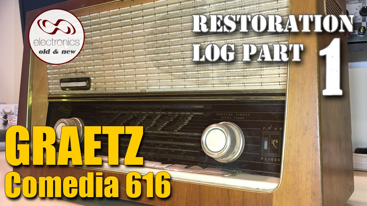 Graetz Comedia 616 tube radio restoration - Part 1  The dirtiest radio I've  ever seen