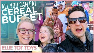 All you can eat cereal buffet & Saturday morning Cartoons - VLOG